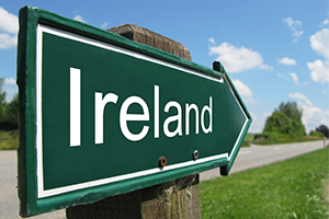 image of sign for ireland